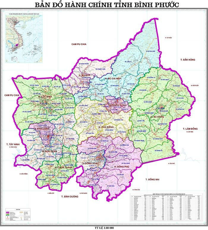 Bản đồ Bình Phước 1