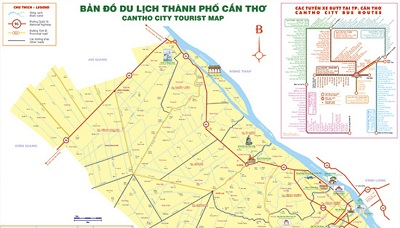 Bản đồ du lịch và hành chính tỉnh Cần Thơ (TP) đầy đủ nhất 2019 9