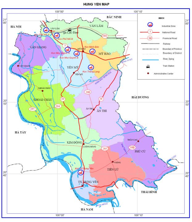 Bản đồ du lịch tỉnh Hưng Yên e1564044364883