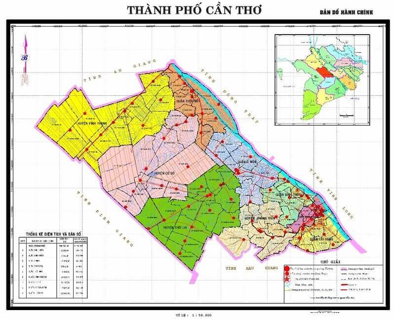Bản đồ du lịch và hành chính tỉnh Cần Thơ (TP) đầy đủ nhất 2019 1