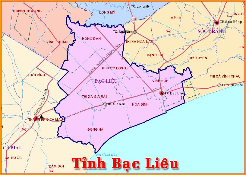 Bản đồ du lịch tỉnh Bạc Liêu được nhiều người xem nhất 2019 3