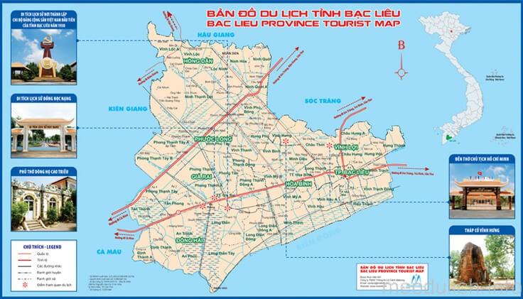 Bản đồ du lịch tỉnh Bạc Liêu được nhiều người xem nhất 2019 1