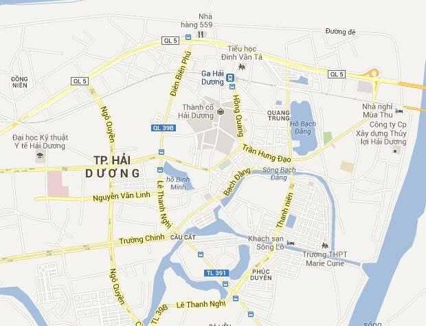 Bản đồ du lịch và hành chính tỉnh Hải Dương vừa mới cập nhật 2019 7