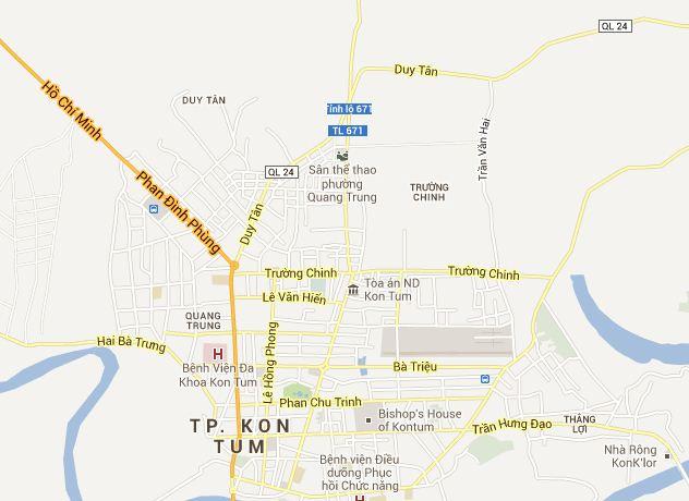 bản đồ du lịch Kon Tum