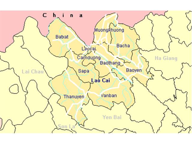 bản đồ du lịch LÀO CAO