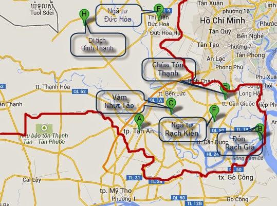 bản đồ du lịch long an