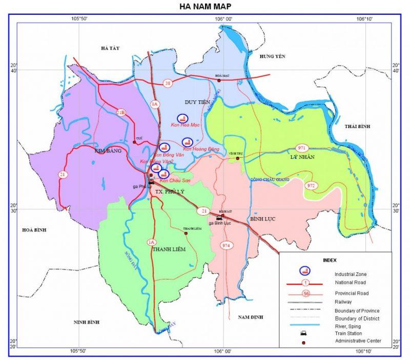 Bản đồ du lịch và hành chính tỉnh Hà Nam online nhiều người xem nhất 4