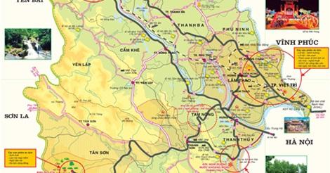 bản đồ du lịch tỉnh phú thọ