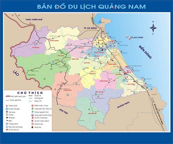 bản đồ du lịch tỉnh quảng nam