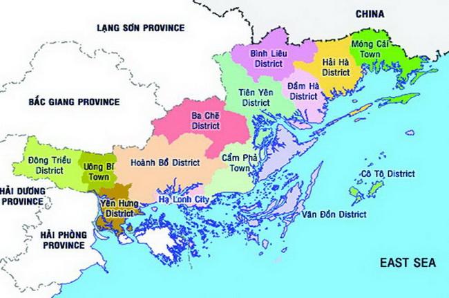 bản đồ du lịch tỉnh quảng ninh
