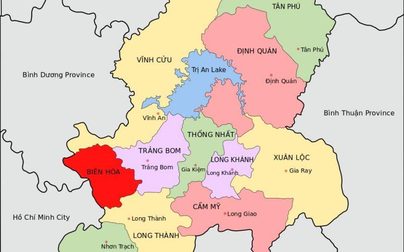 bản đồ hành chính Đồng Nai