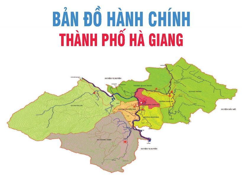 Bản đồ du lịch và hành chính tỉnh Hà Giang đầy đủ và chính xác 2019 1