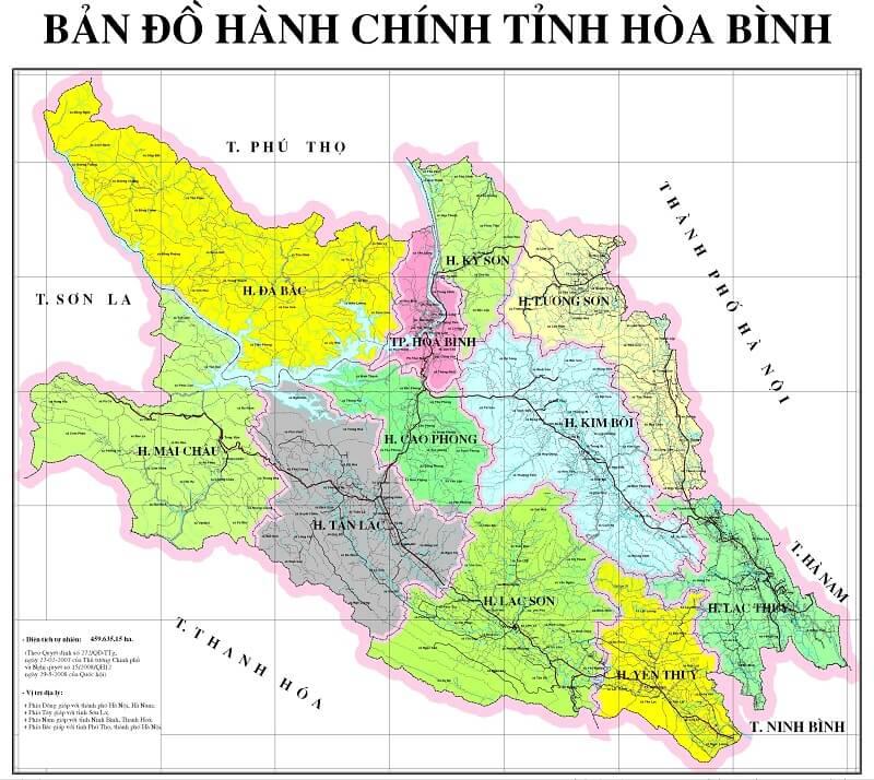 bản đồ hành chính hòa bình