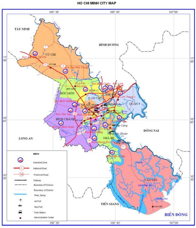 Bản đồ du lịch và hành chính tỉnh Hồ Chí Minh (TP) online chính xác nhất 4