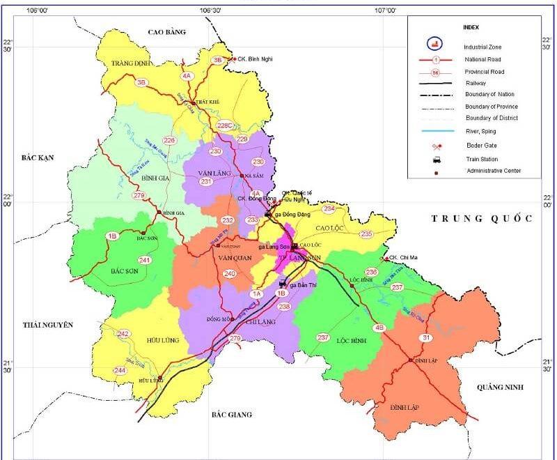 bản đồ hành chính lạng sơn