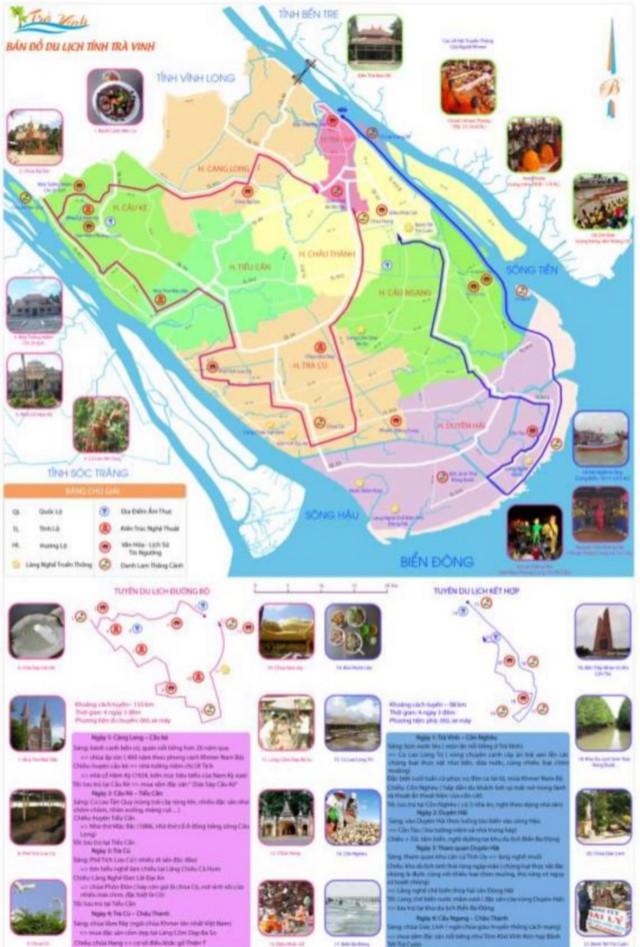 bản đồ du lịch Trà vinh