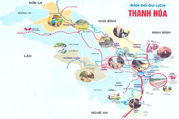 bản đồ du lịch tỉnh thanh hóa