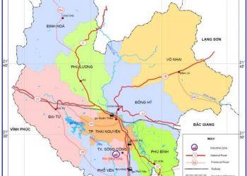 bản đồ hành chính tỉnh thái nguyên