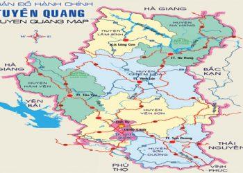 bản đồ hành chính tỉnh tuyên quan