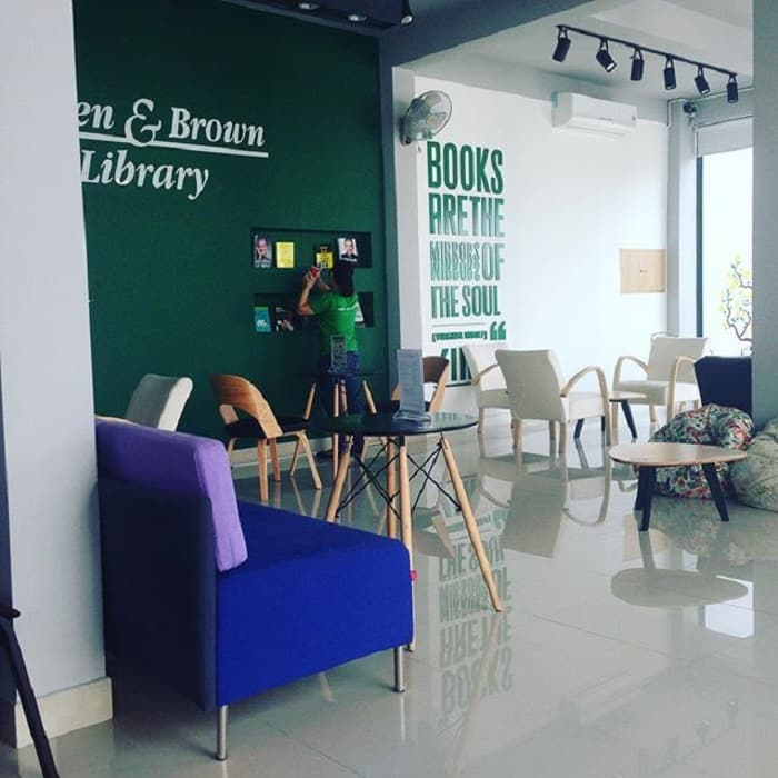 green brown bookstore