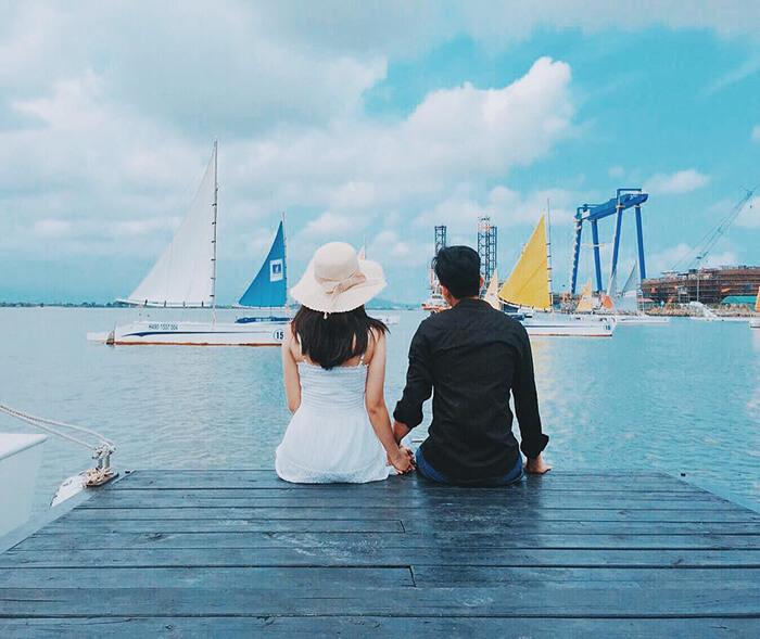 """Bến thuyền Marina – điểm chụp ảnh """"ảo diệu""""."""
